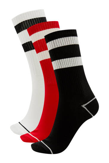 Σετ με ψηλές αθλητικές κάλτσες - Οργανικό βαμβάκι (τουλάχ. 75%)