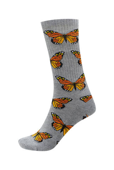 Αθλητικές κάλτσες με πεταλούδες