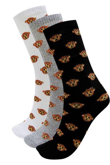 Pack of long bear socks