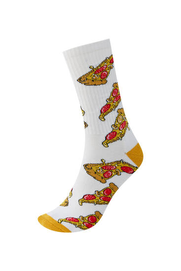 Pizza print sports socks - Ecologically grown cotton (at least 50%)