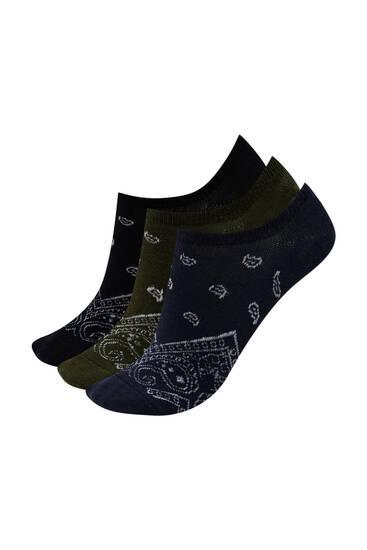 Σετ με κάλτσες σουμπά με τύπωμα μπαντάνα