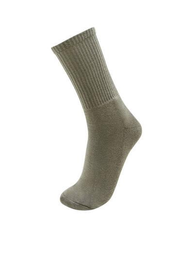 Χακί αθλητικές κάλτσες
