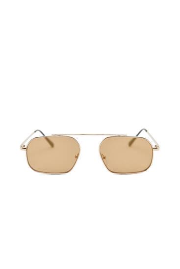 Okulary aviator w metalowych oprawkach