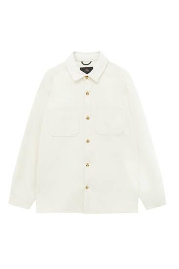Plain corduroy overshirt
