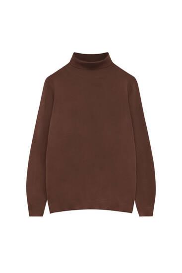 Basic coloured high neck sweater