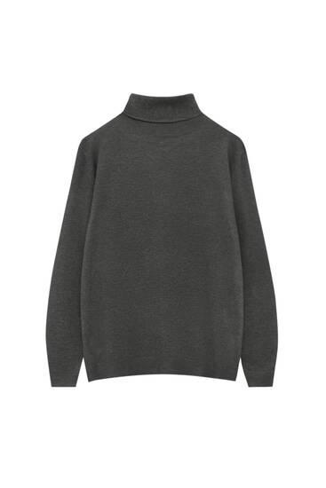 Базовий кольоровий светр із піднятим коміром