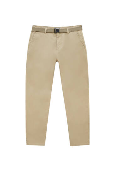Smart skinny-fit chino trousers