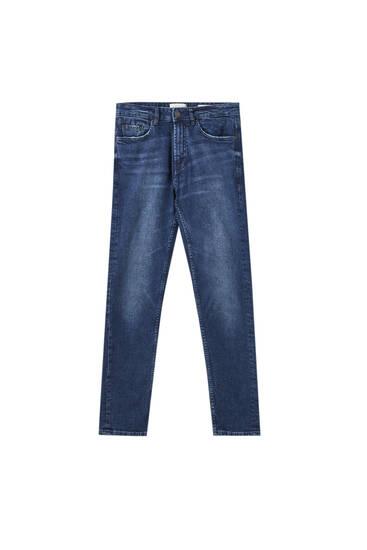 Сині джинси зручного вузького крою
