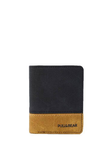 Panelled wallet with logo