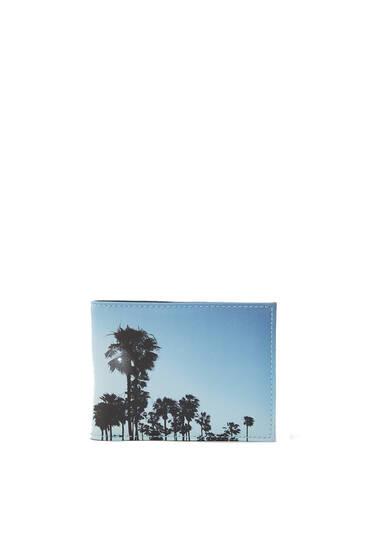 Palm tree print purse