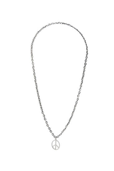 Chain with peace symbol pendant
