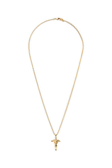 Gold-toned angel necklace