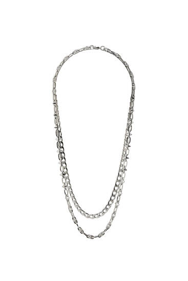 2-pack of silver-toned chains