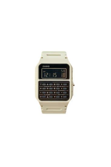 Λευκό ρολόι vintage Casio CA-53WF-8BEF
