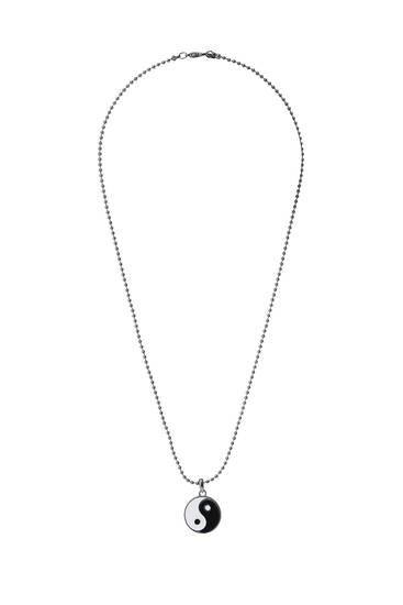 Yin-Yang pendant necklace