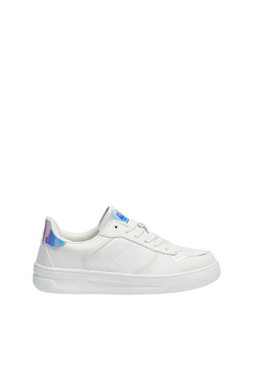 Casual iridescent detail trainers