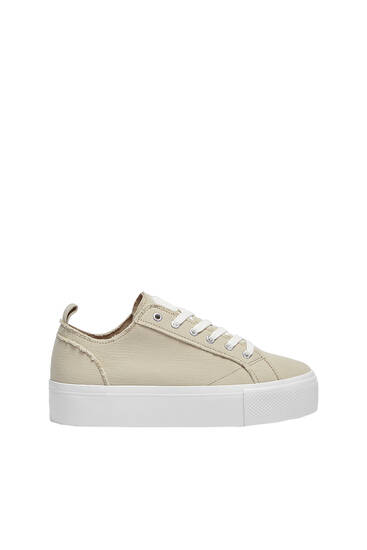 Casual fabric trainers
