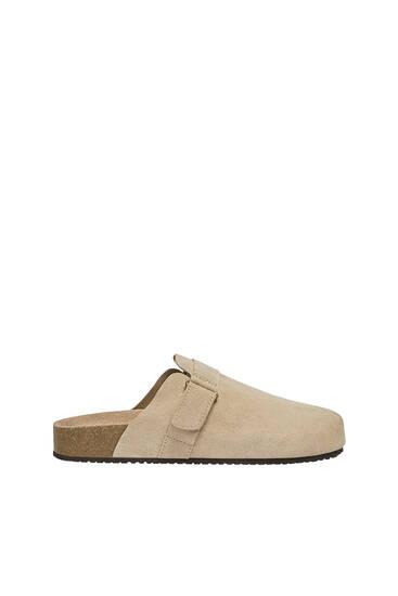 Split-leather slippers