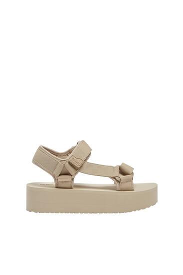 Track sole platform sandals