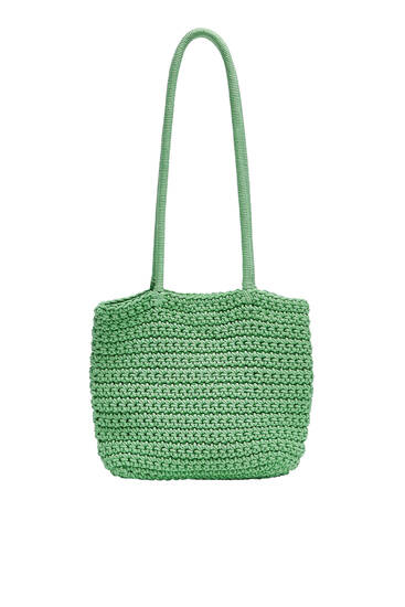 Crochet mini tote bag