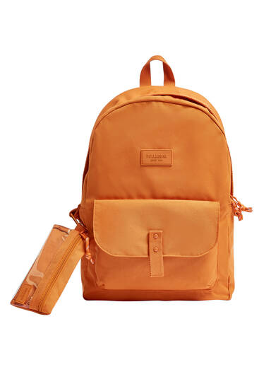 Backpack with pencil case detail