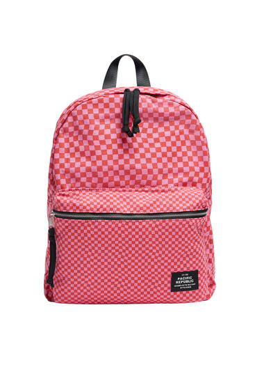 Chequered backpack