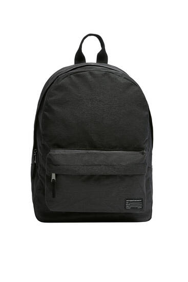Textured fabric backpack