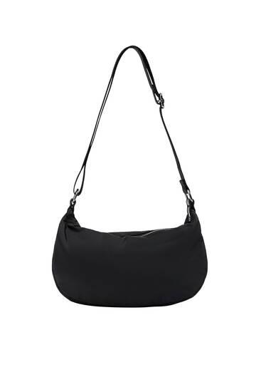 Nylon crossbody bag with adjustable strap