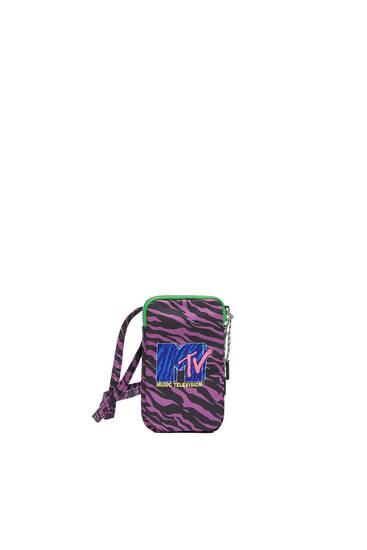 Animal print MTV mobile phone pouch