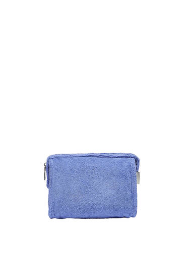 Terry-effect toiletry bag