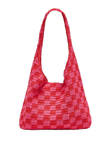 Shopper crochet cuadro damero