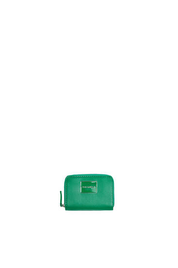 Card holder purse with logo