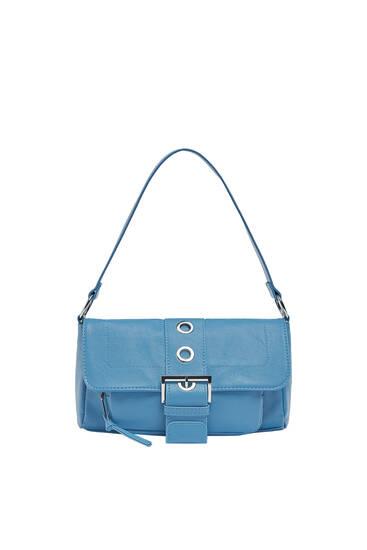 Τσάντα ώμου με λεπτομέρεια από αγκράφα