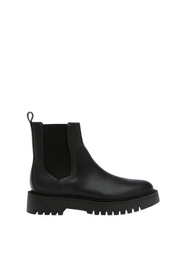 Chelsea boots with track soles