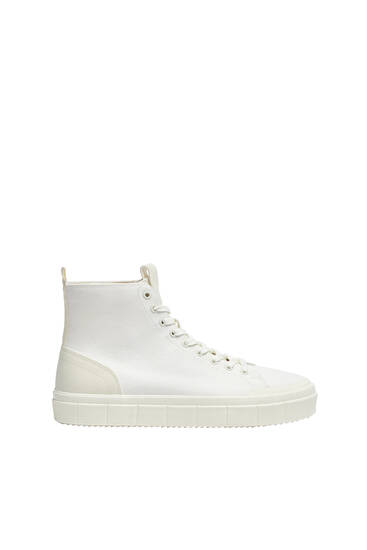 Contrast high-top trainers