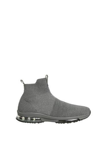 Tenis botín knit gris