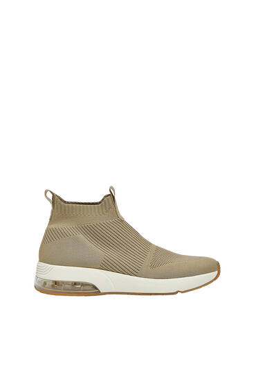 Knit high-top trainers