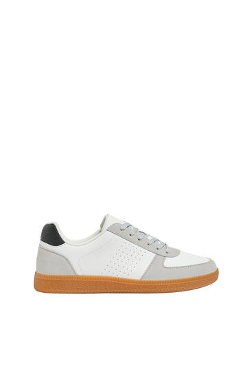 Casual trainers with leather detail
