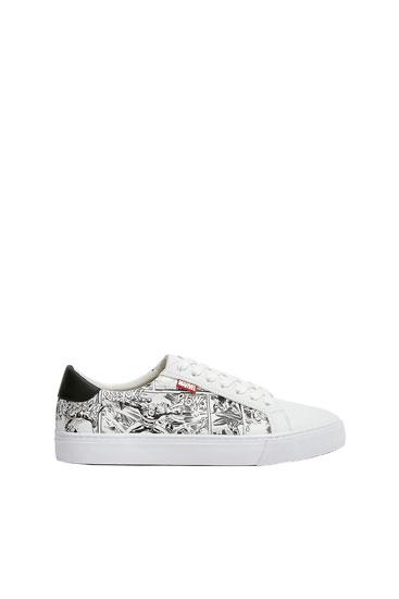 Hvide Marvel-sneakers