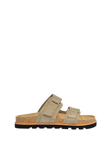 Hook-and-loop sandals