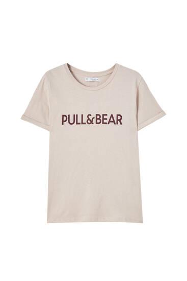 Playera logo Pull&Bear contraste