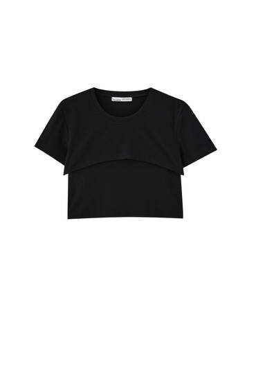 Cropped T-shirt and top pack