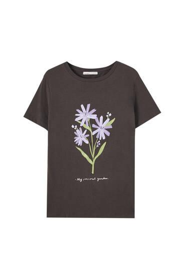 Camiseta ilustración flores
