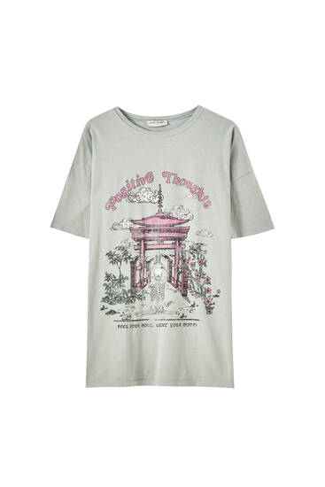 T-shirt temple rose