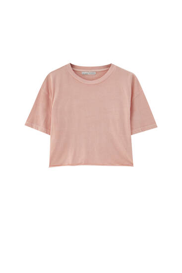 Basic crop top - 100% ecologically grown cotton