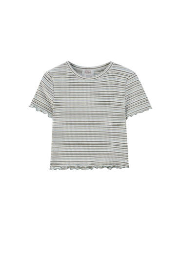 T-shirt rayures manches courtes