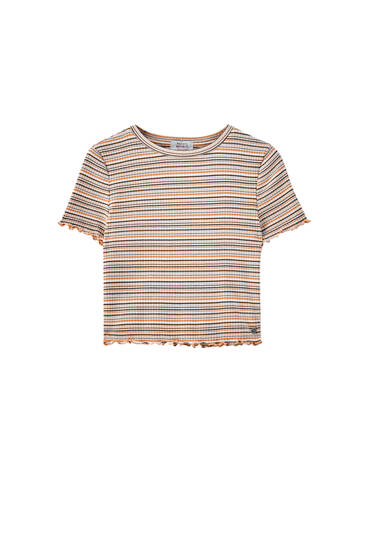 Short sleeve multi-stripe T-shirt