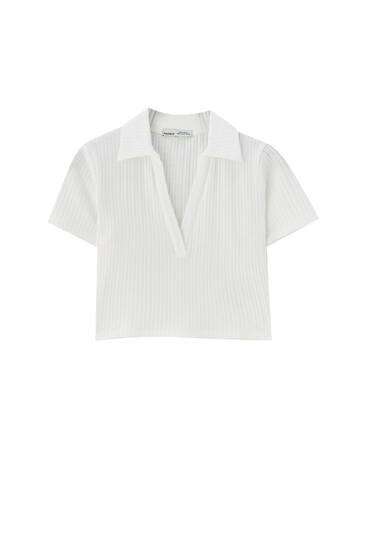 Μπλούζα πόλο με λαιμόκοψη V