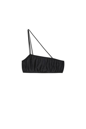 Black bandeau with tie detail