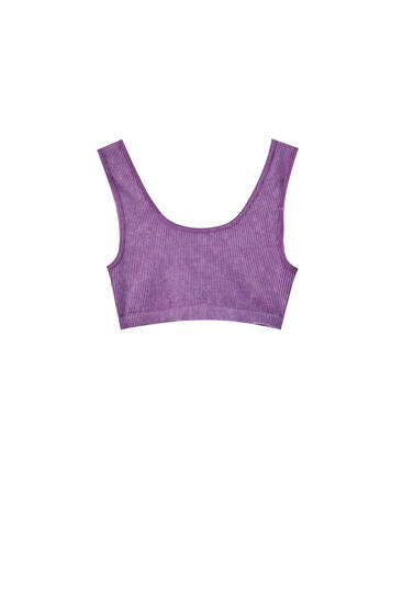 Purple sports top - at least 50% recycled polyamide